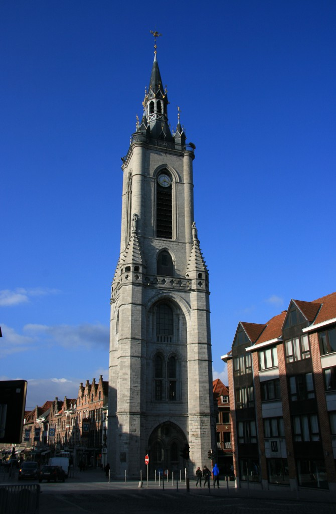 The little belfry of Tournai, on a sunny winter's day.