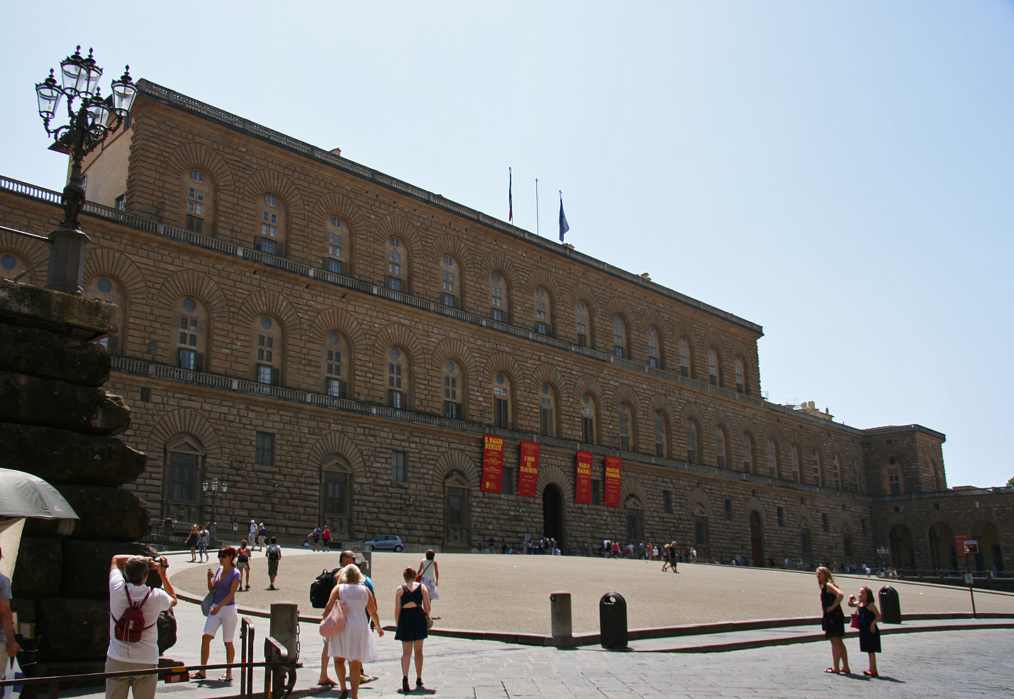 The Renaissance Palazzo Pitti, also bought by the Medici Family.