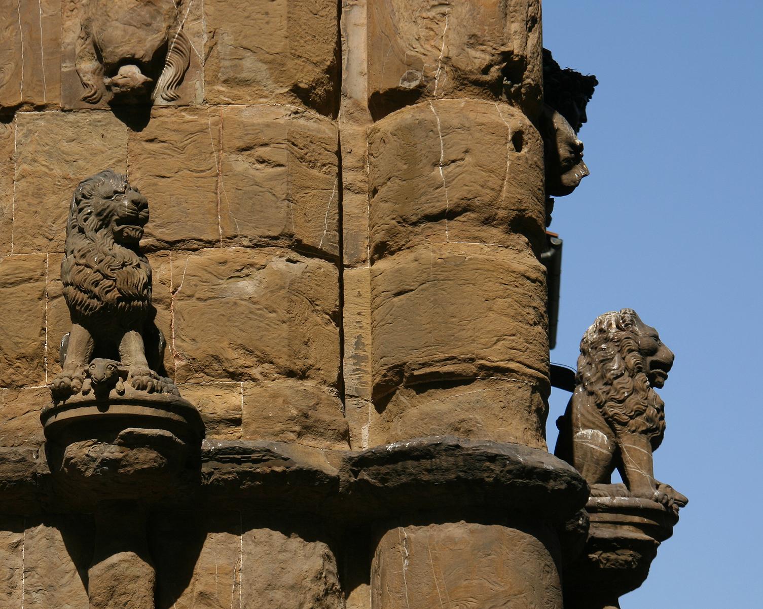 Lions of the Loggia dei Lanzi (Piazza della Signoria).