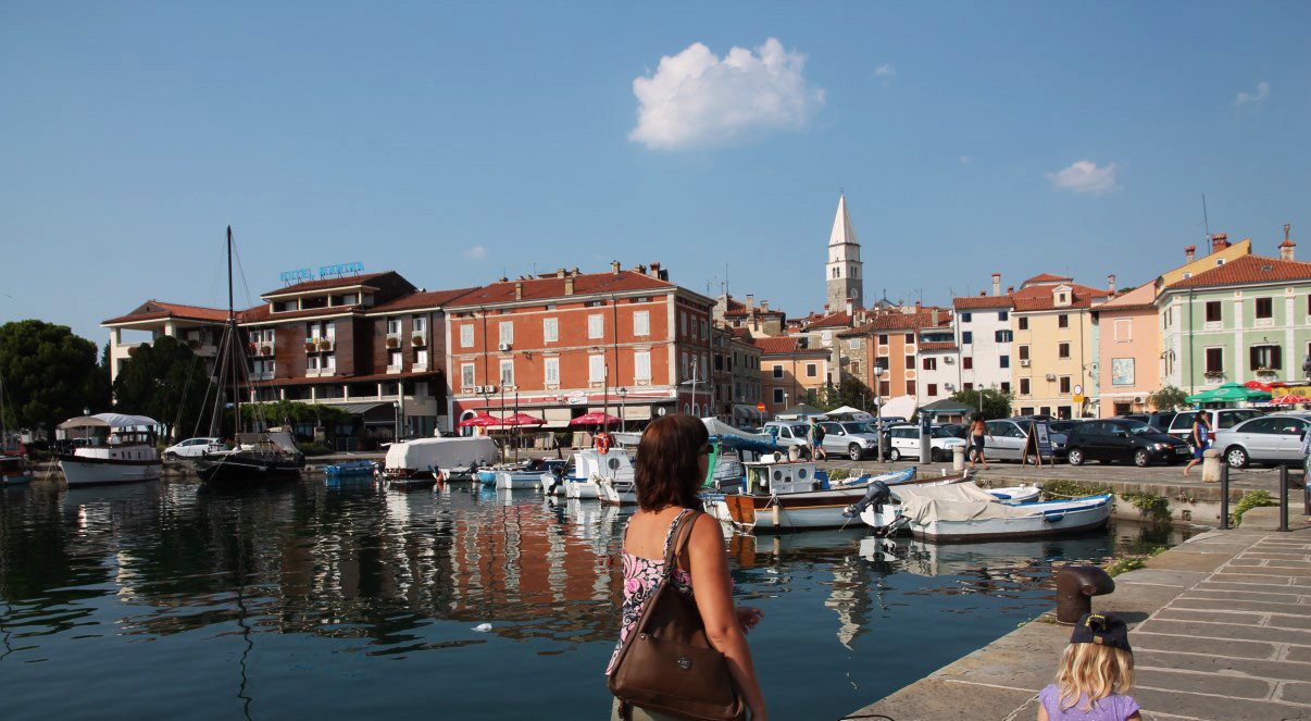 At the harbour of Izola.
