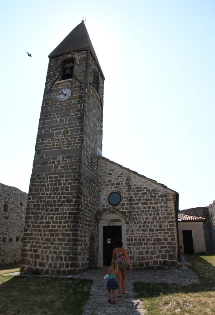 The church, inside the walls.