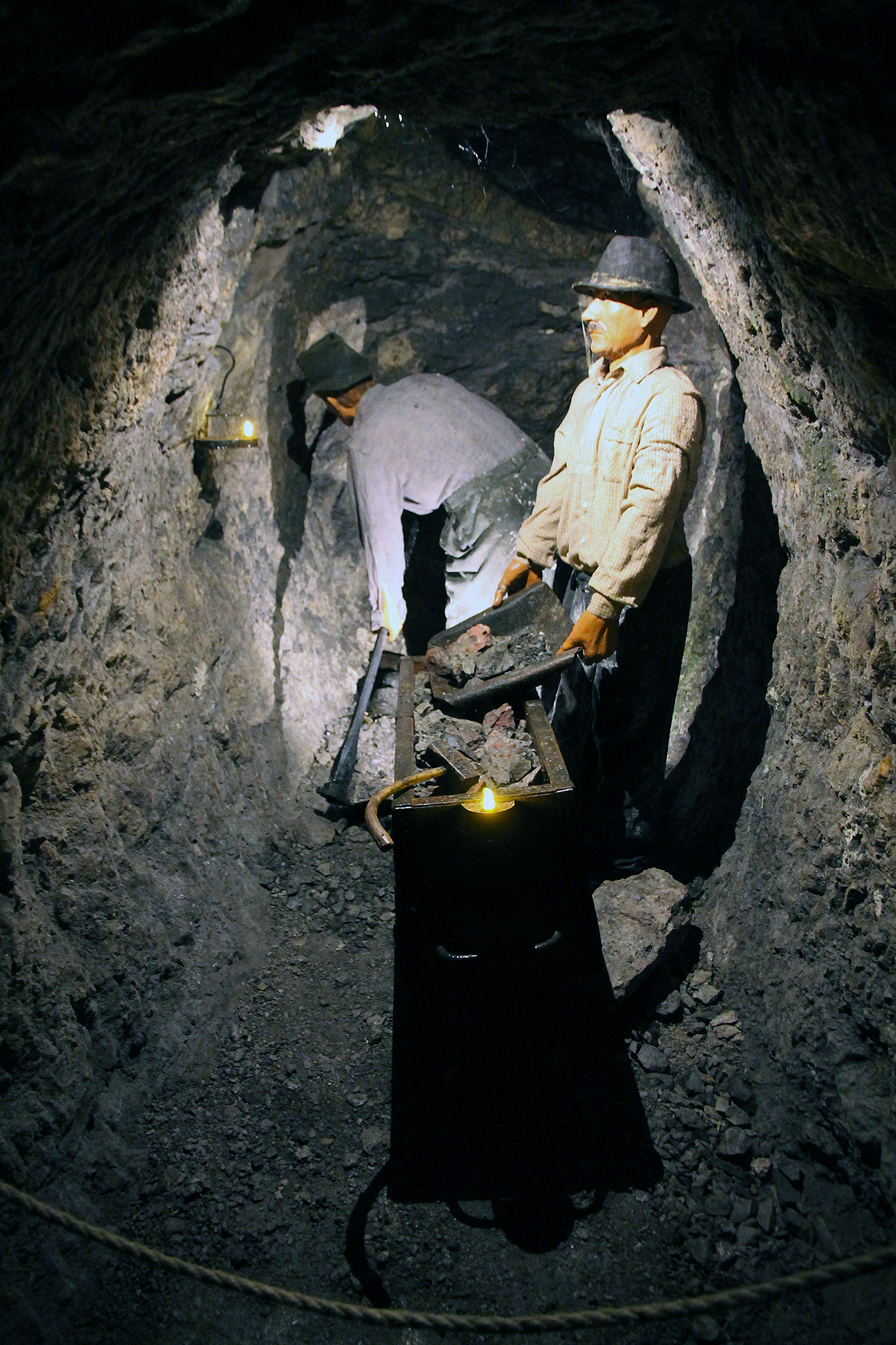 Slightly spooky presentation of miners.