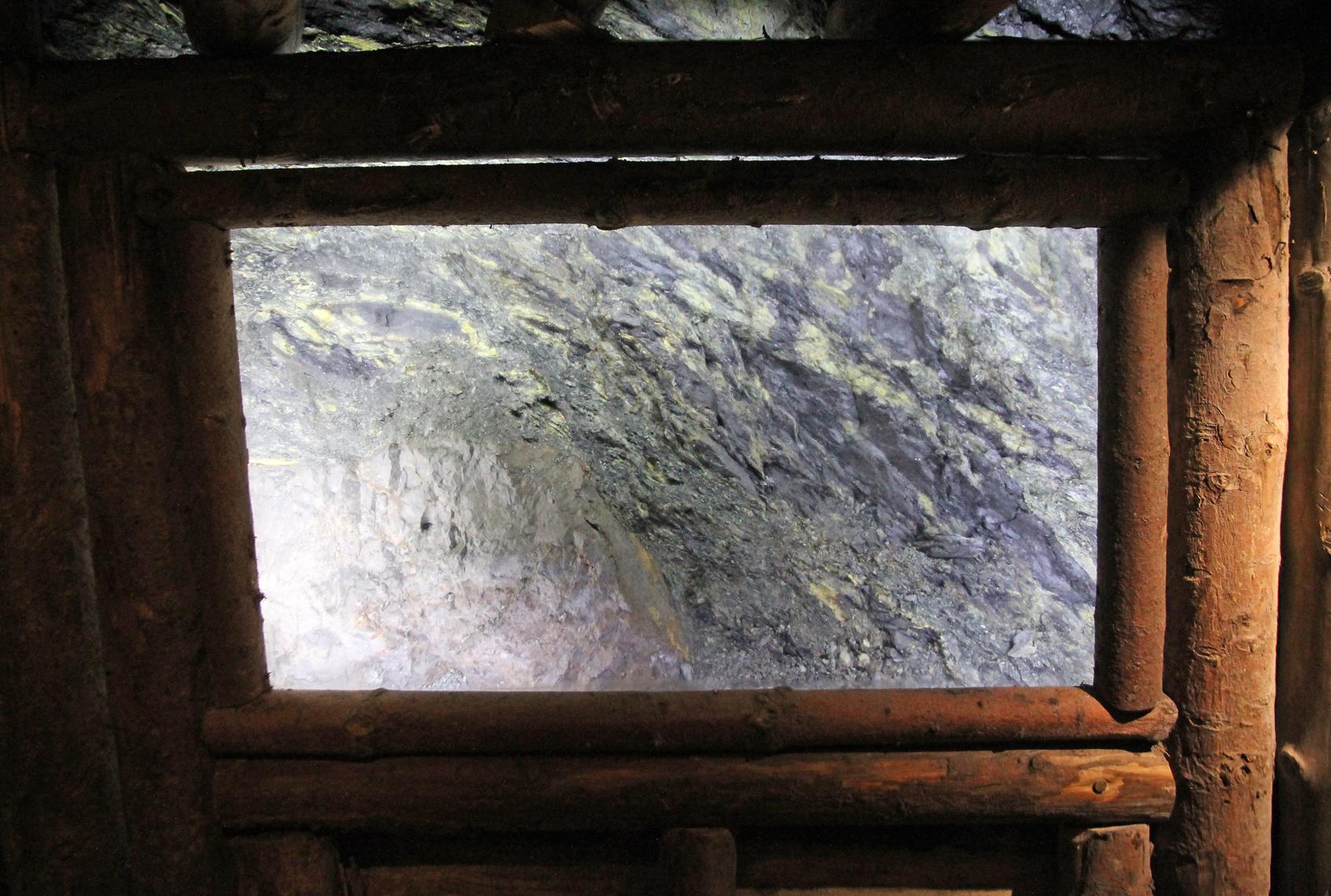 One of the mercury ore exhibits.