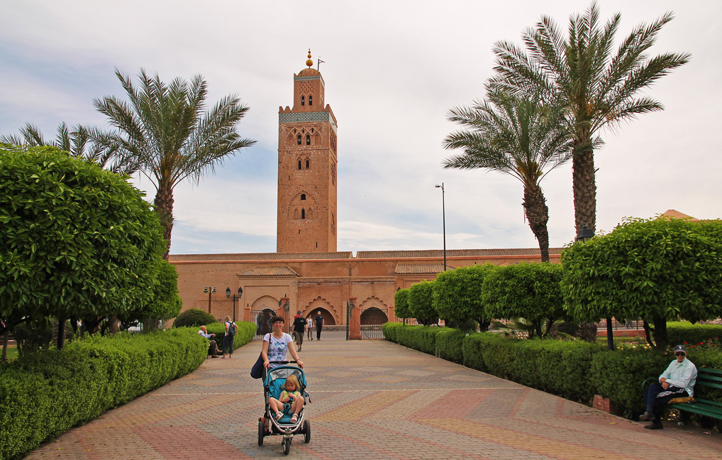 The Koutoubia Mosque, as seen from Parc Laila Hasna.