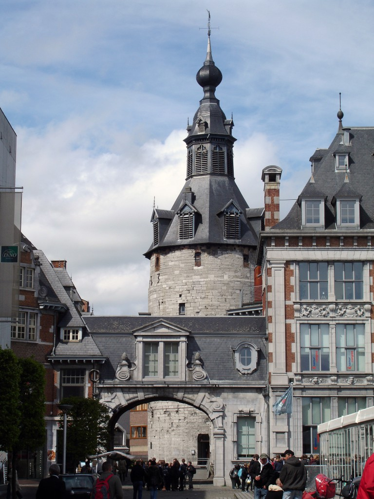 The belfry of Namur (the tower on the left).