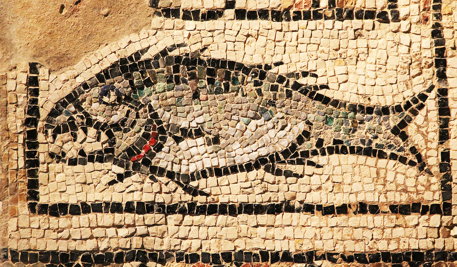 The famous fish mosaic.