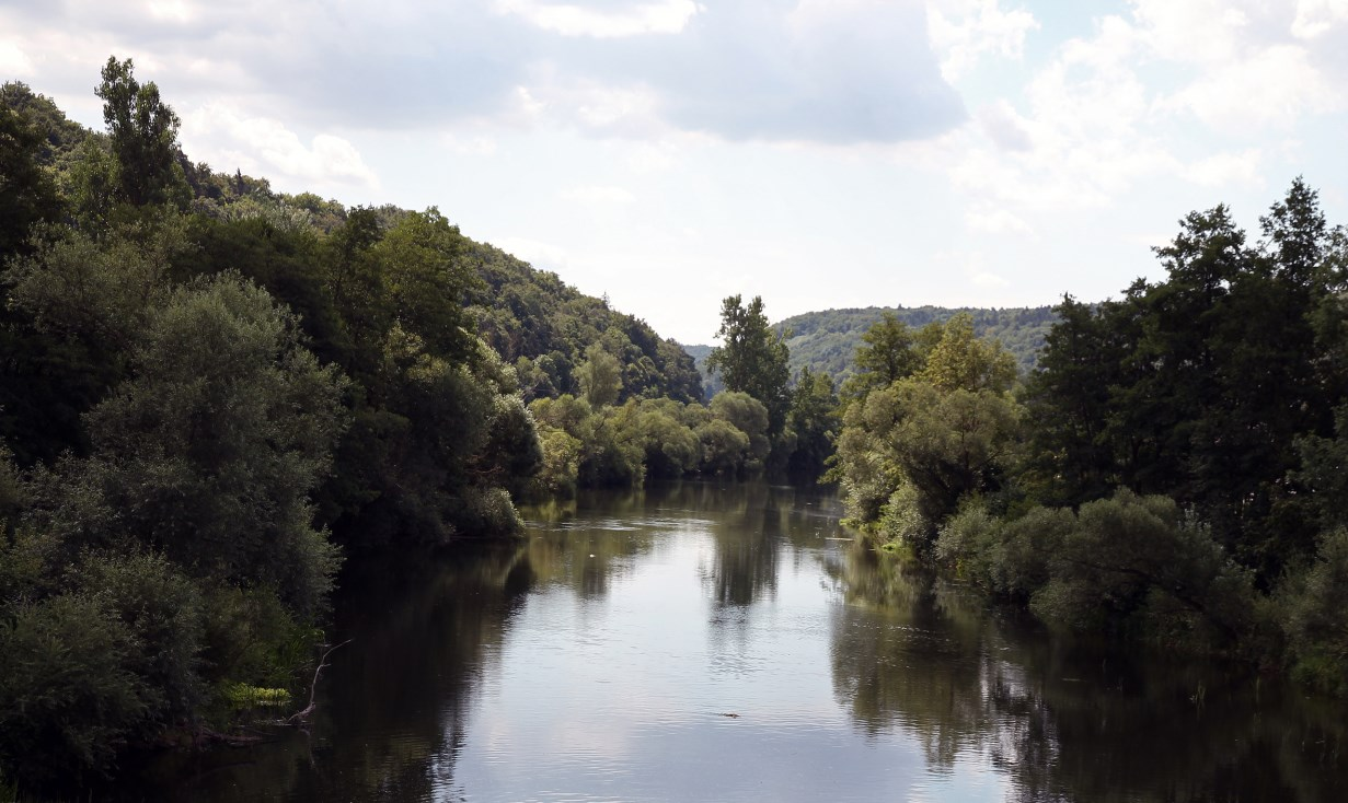 The Naab river.