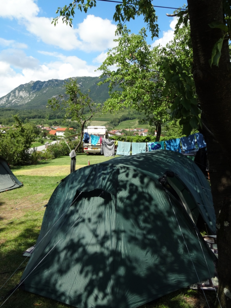 Our tent and the view.