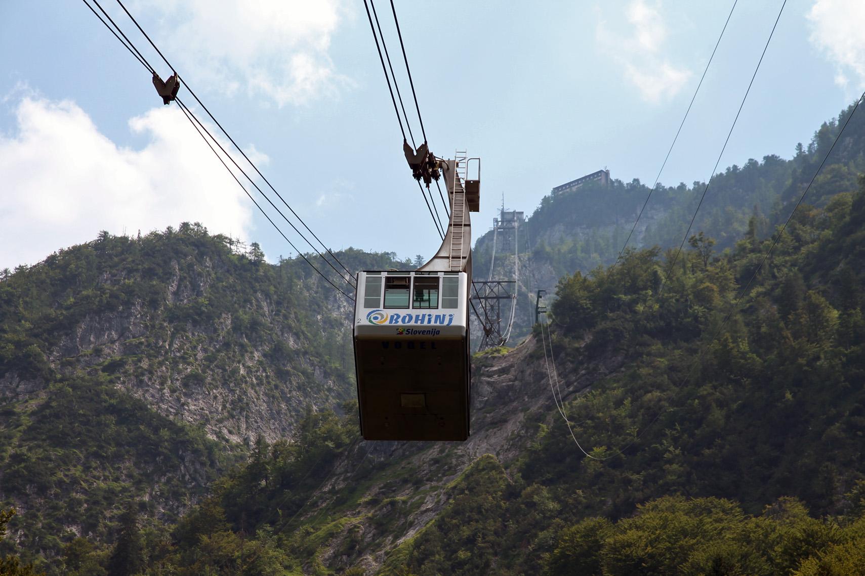 The Vogel cable car: pretty steep!