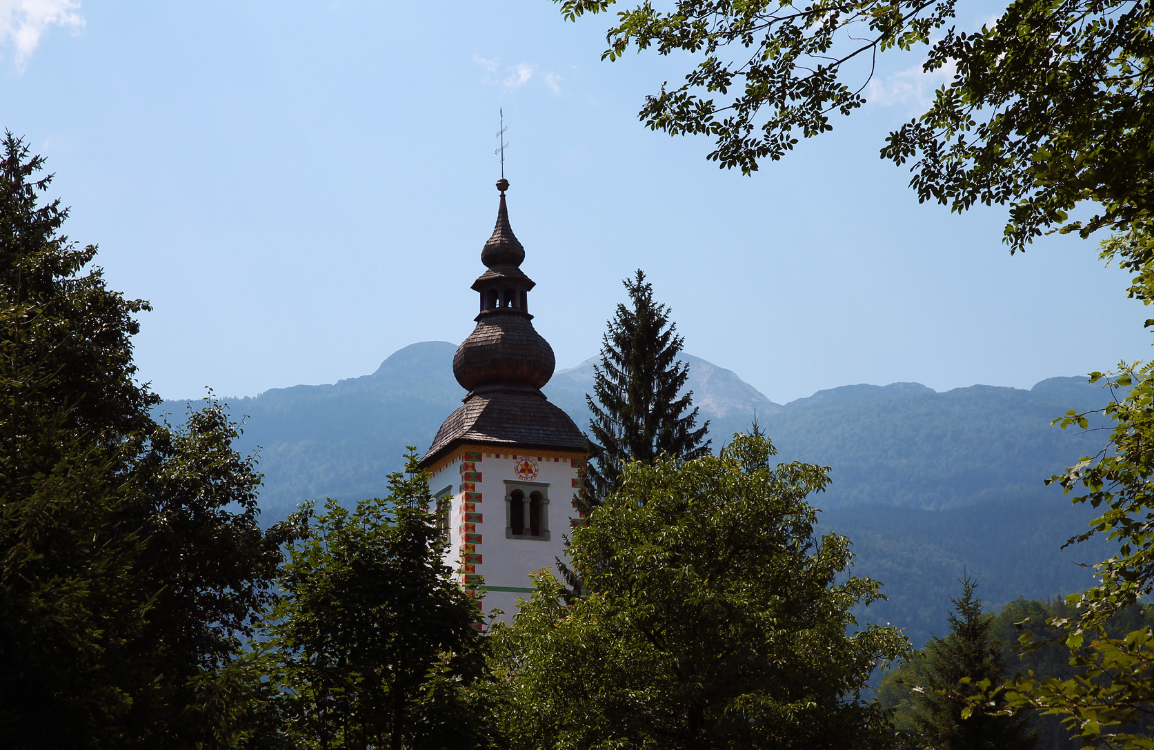 Spire of the church of Ribčev Laz.