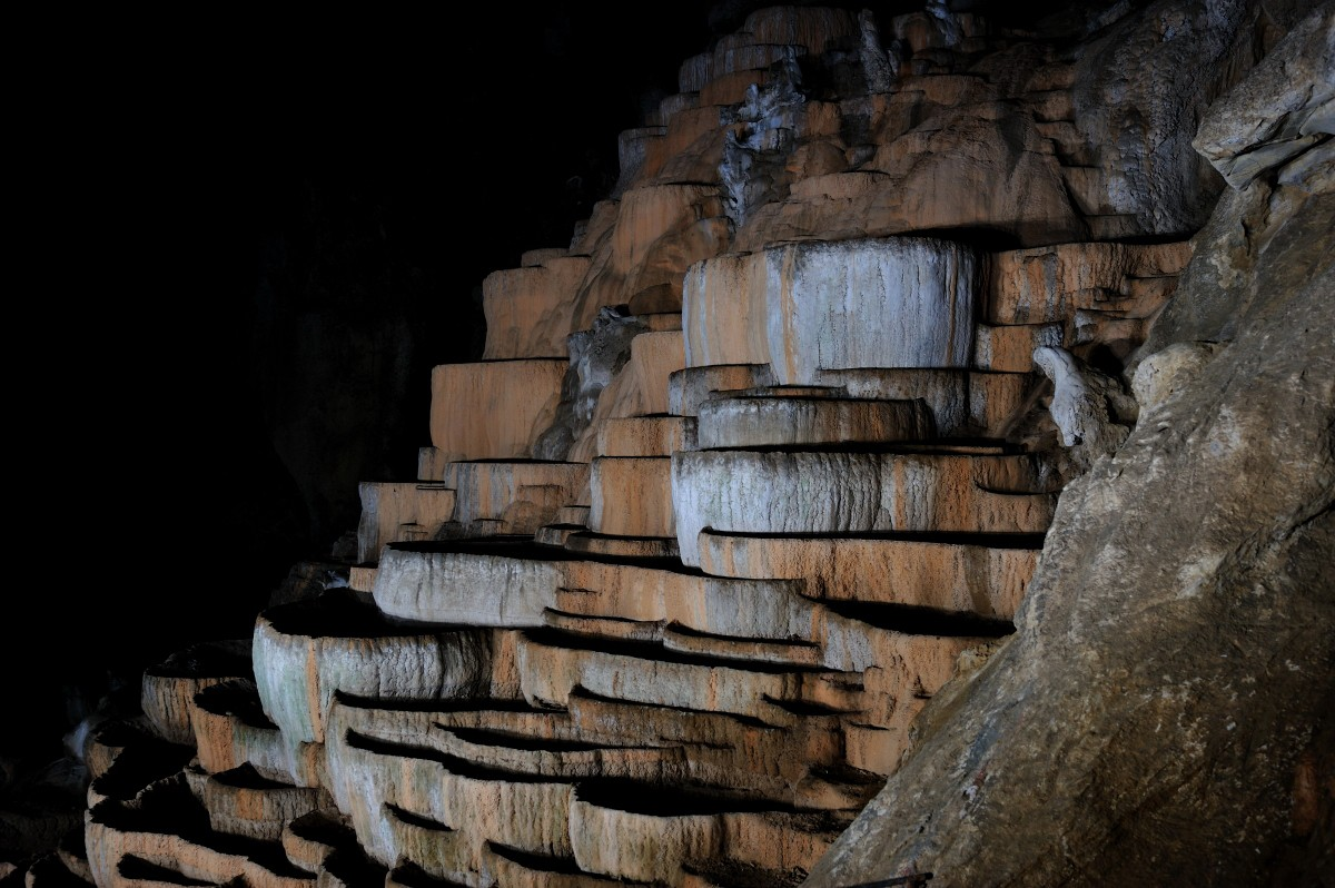 Gours in the Škocjan Caves. (Pitcure from the Škocjan Caves sebsite - http://www.park-skocjanske-jame.si/en/gallery/foto/skocjanske-jame_3)