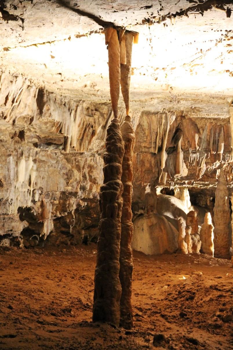 Stalactite meets stalagmite.