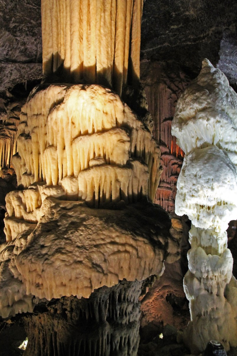 The Brilliant stalagmite (right).