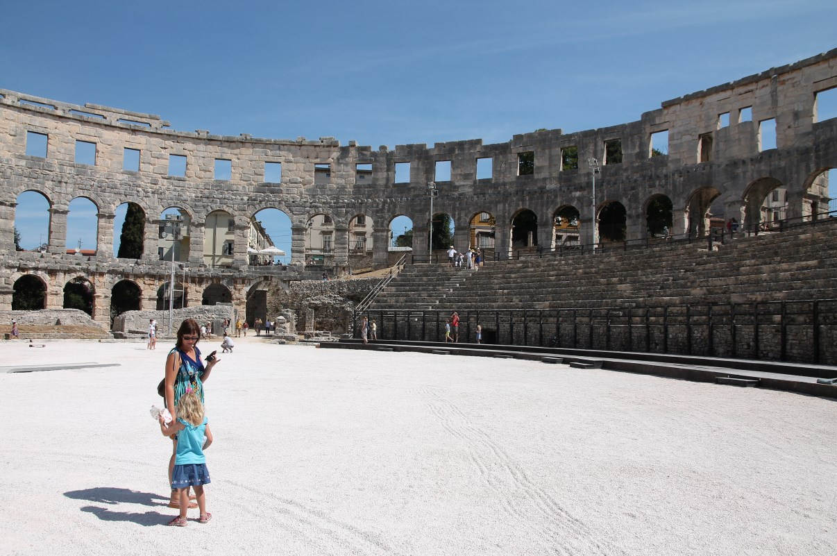 Two gladiators.