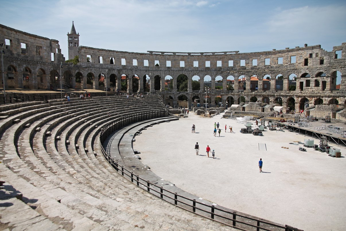 The interior of the Pula Arena.