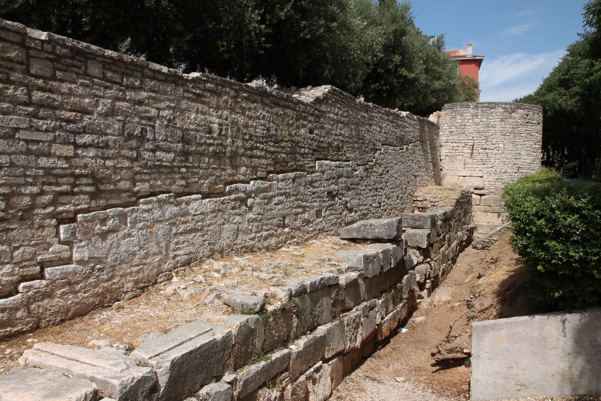 Parts of the Roman city walls.