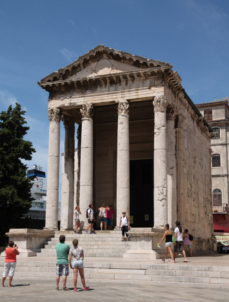 The Temple of Augustus.