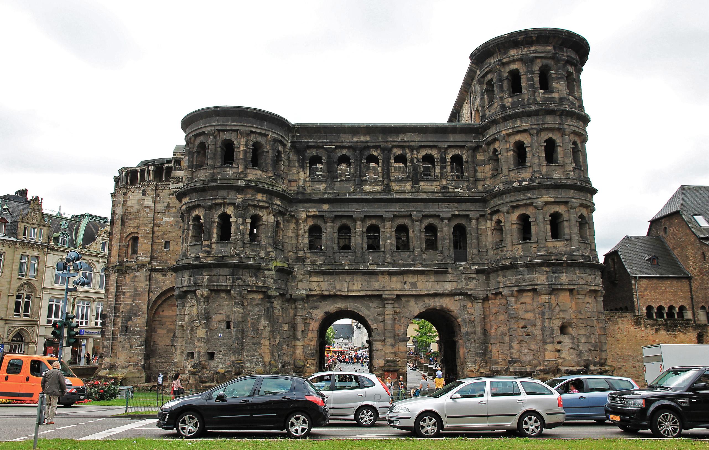 The Roman Porta Nigra in Trier.