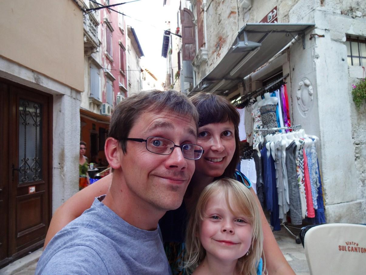 Happy family at Bistro Sul Canton.