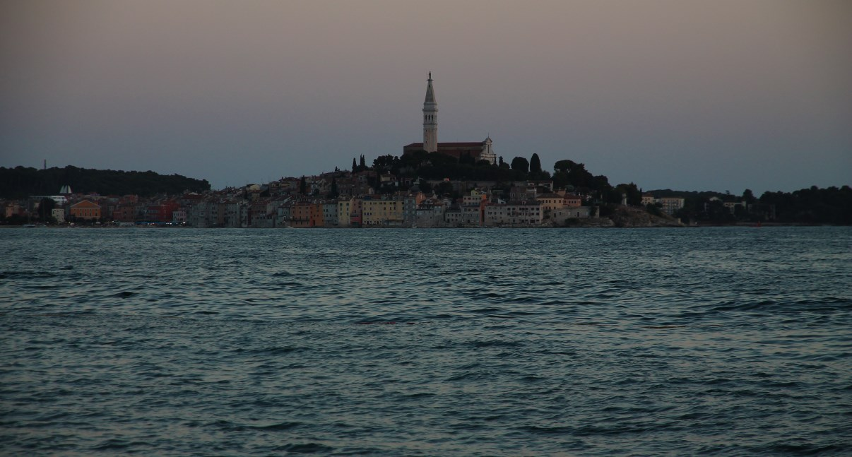 Rovinj in the soft light of sunset.