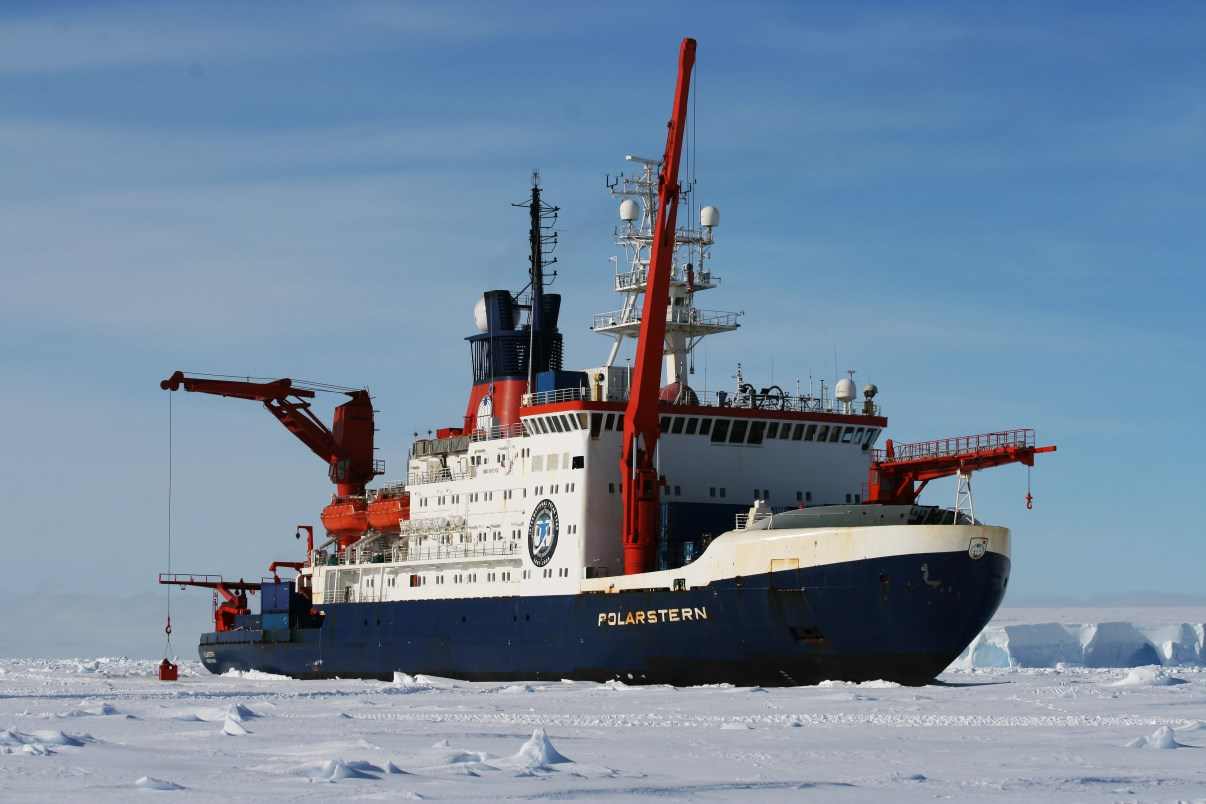 Polarstern, stuck in the ice.