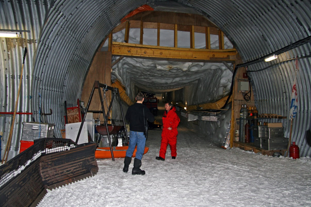 A research station built inside the ice.