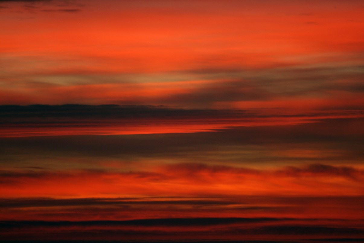Extraordinary red skies, like it was a painting.