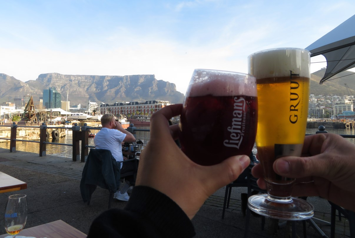 Belgian beers! And Table Mountain.