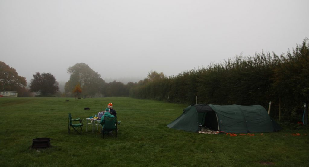 Our stay at Beeches Farm Campsite was very humid and grey.