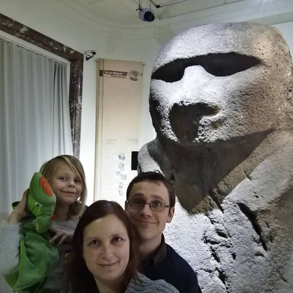 Selfie with this happy fellow from Easter Island.