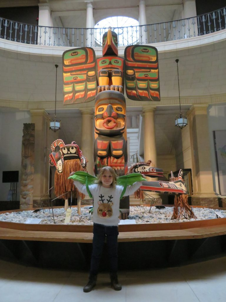 A Native American totem pole, Febe's favourite piece in the museum.