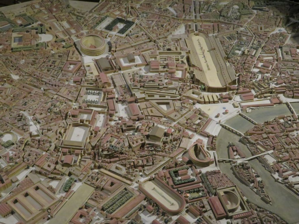 Scale model of ancient Rome.