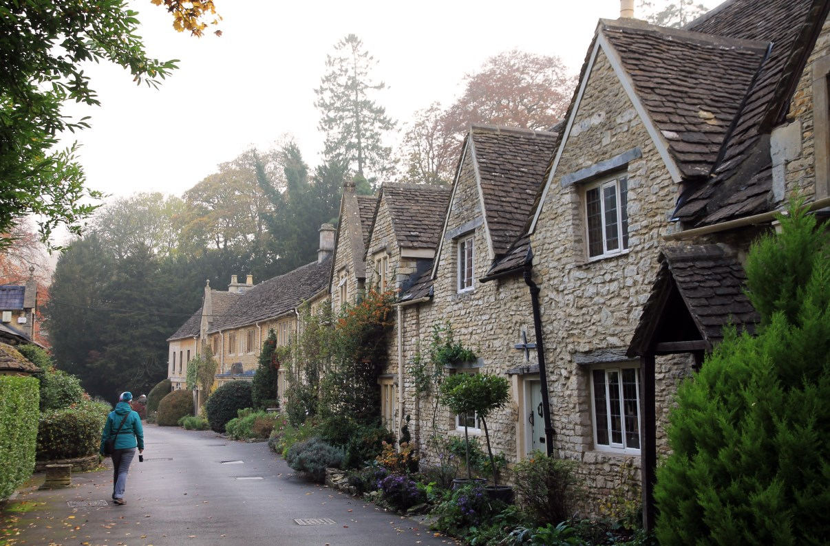 A row of beautiful, old houses in Castle Combe.