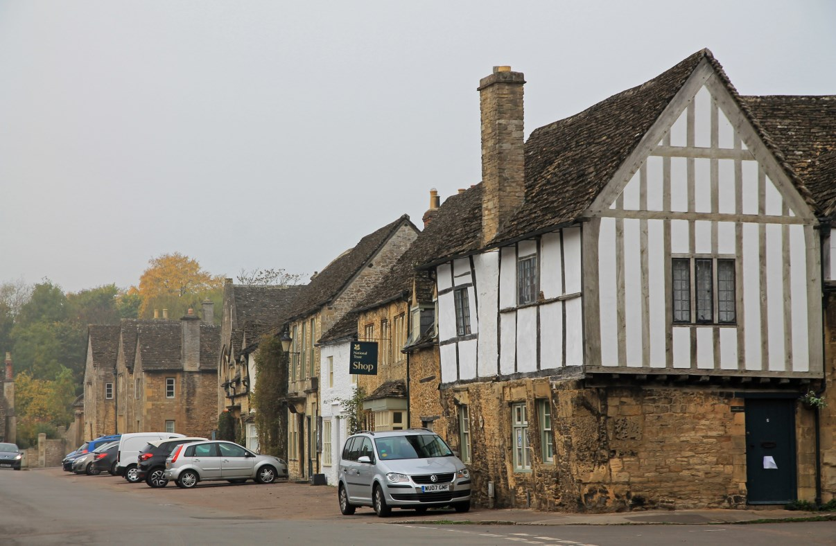 Half-timbered houses are very abundant in Lacock.