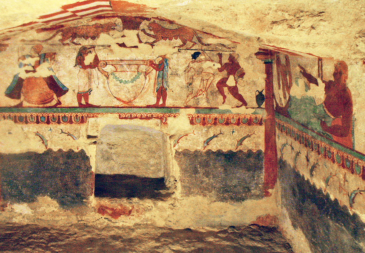 Etruscan graves in Italy: it's like taking your kid to an art exhibition in a basement. But it was super exciting!