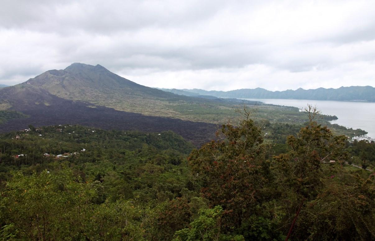Mount Batur and Lake Batur.