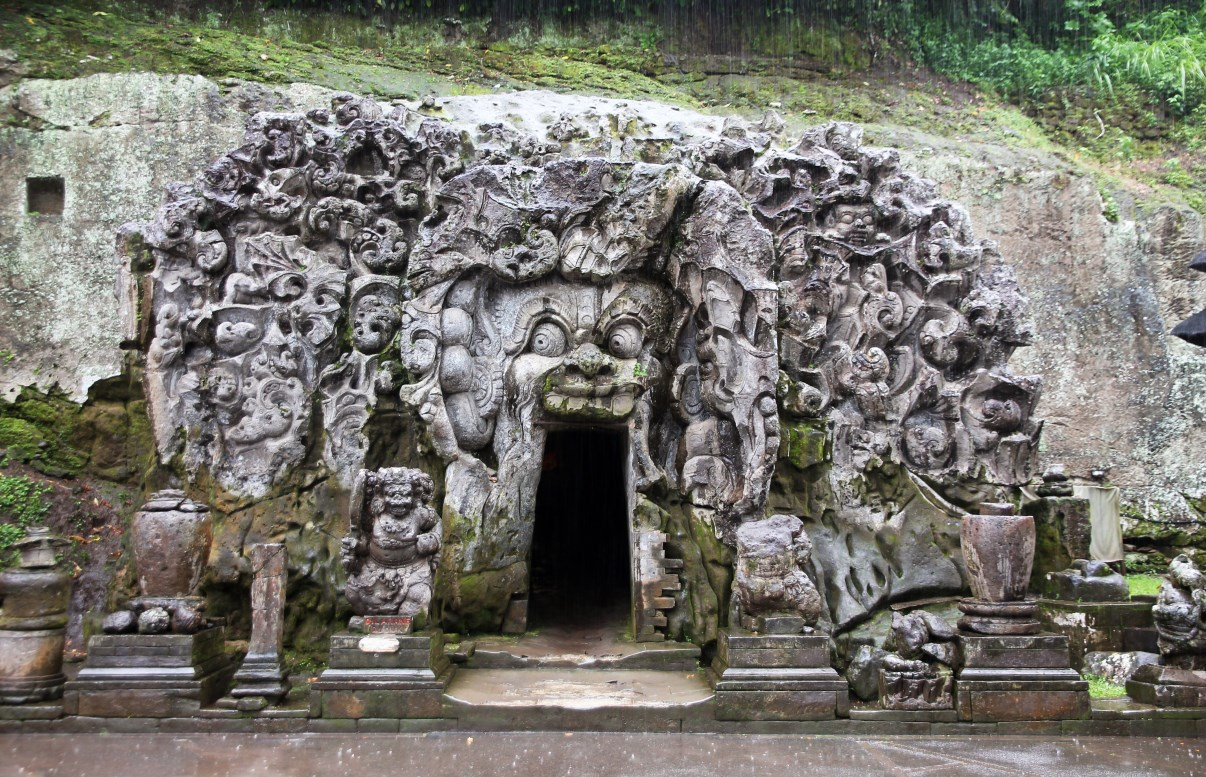 The cave's entrance.