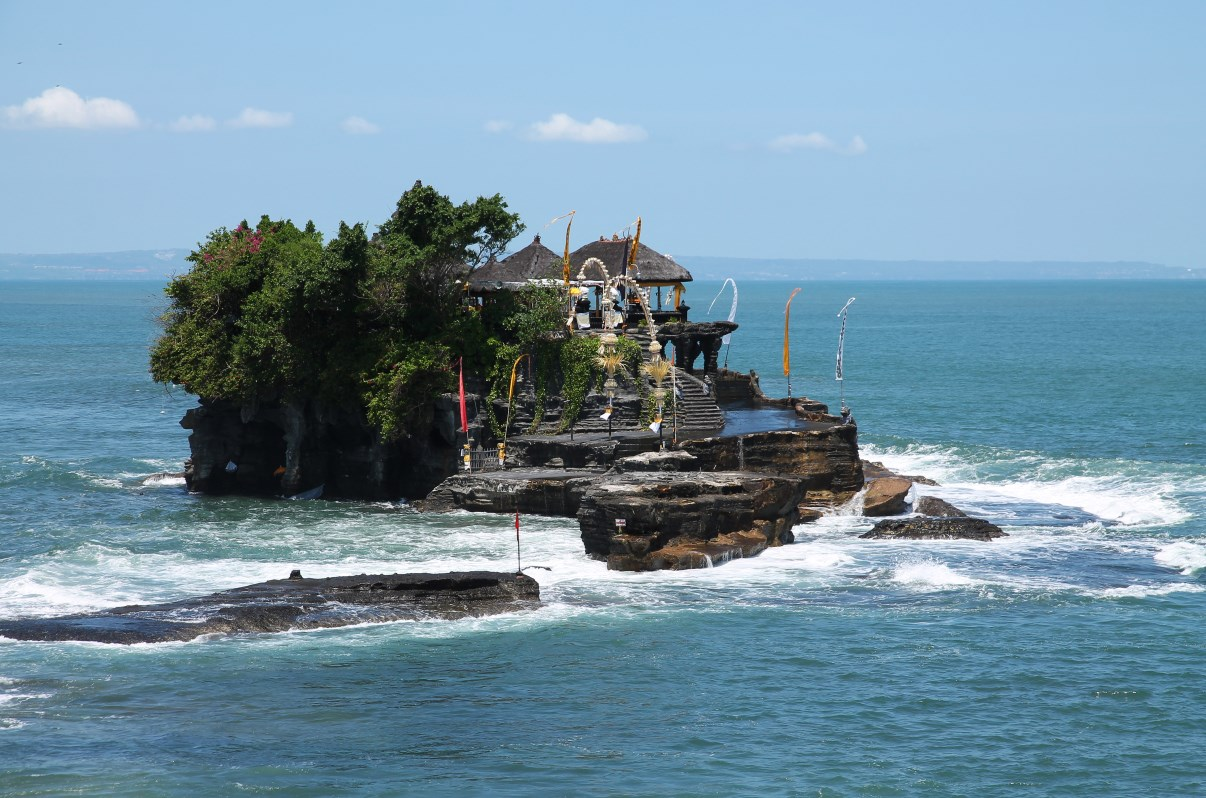 Tanah Lot temple at high tide.