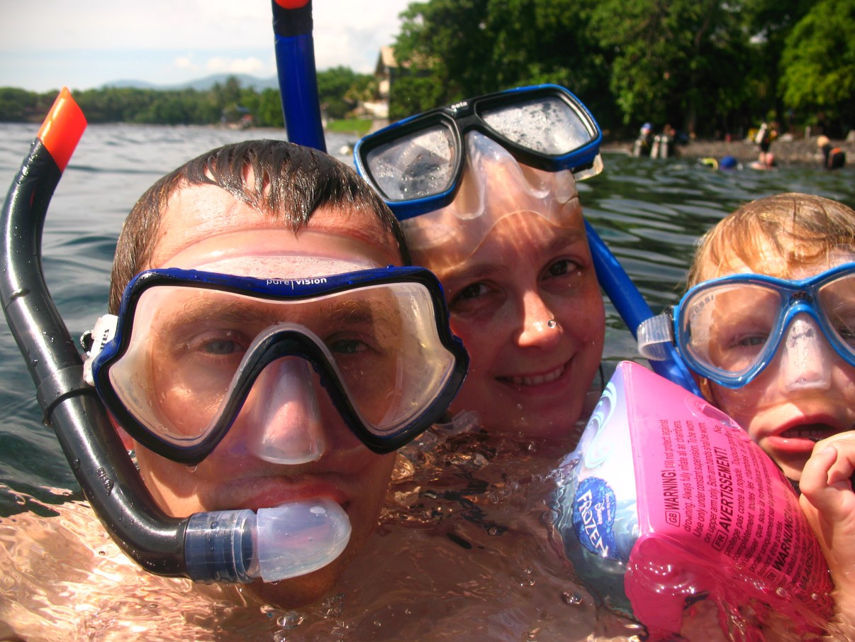 The snorkeling party.