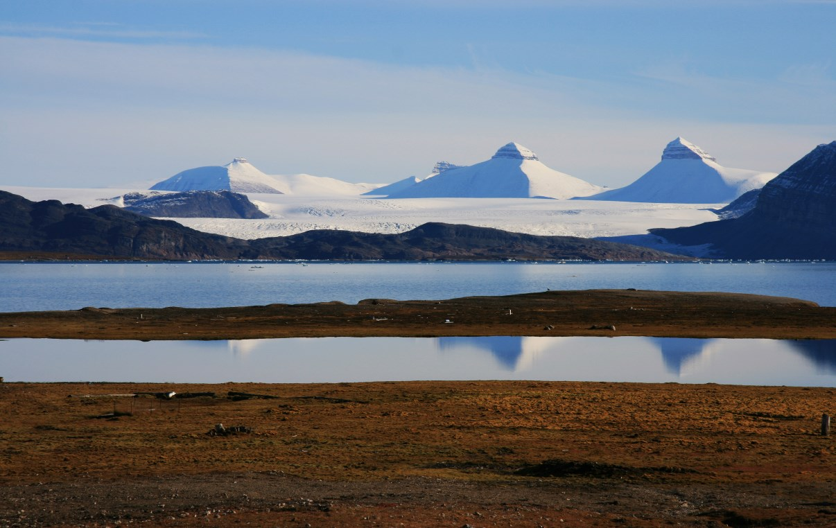 """The """"Tre Kroner"""" (three crowns) mountains."""