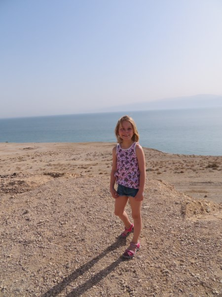Febe, when she still liked the Dead Sea...
