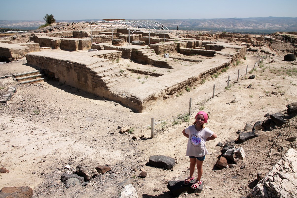 The Egyptian Governor's house on Tel Beit She'an.