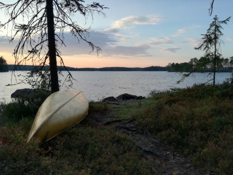 Our canoe.