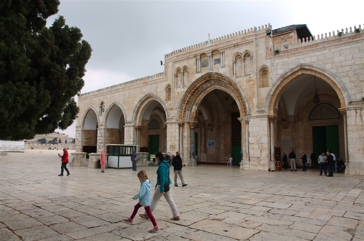 Passing the Al-Aqsa Mosque.