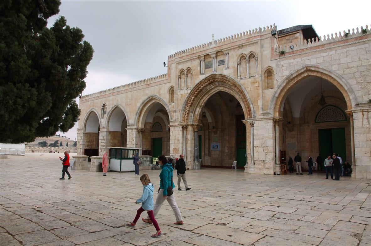Passing the Al-Aqsa Mosque.