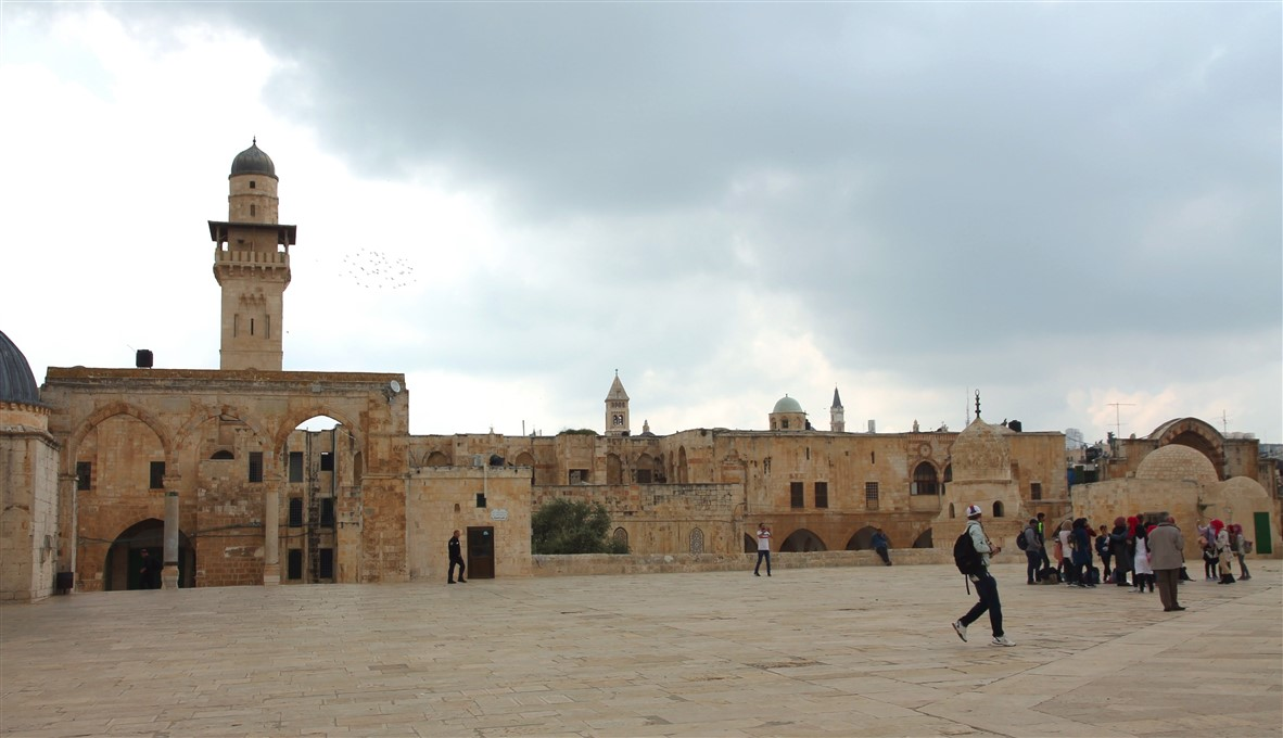 On top of the Temple Mount.