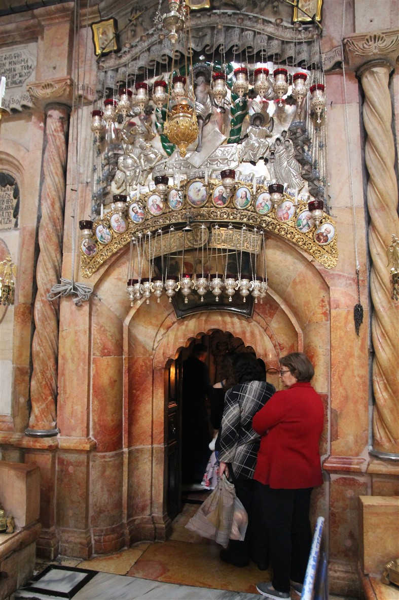 Entrance to the tomb of Jesus.