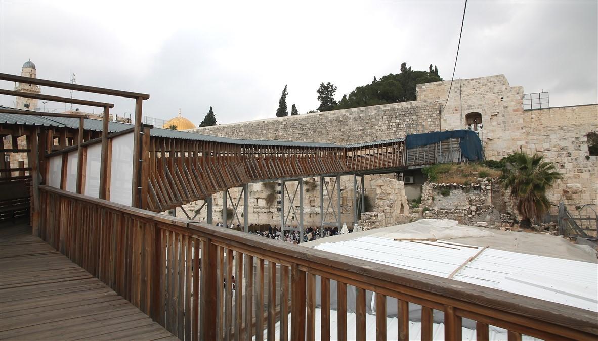 The wooden bridge.