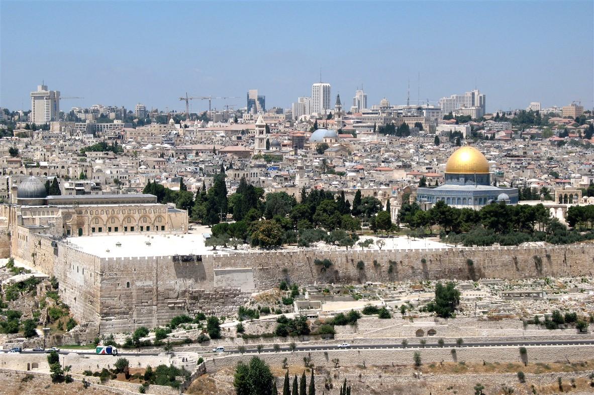 Jerusalem on a sunnier day.